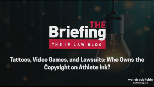 Cover Image reading, The Briefing, Tattoos in The NBA
