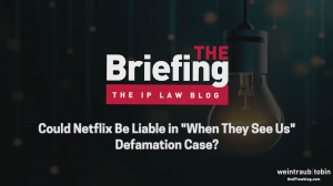 Dark background, with text reading 'Could Netflix Be Liable in When They See Us Defamation Case'